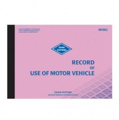 MVRU - Record Use of Motor Vehicle