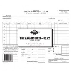 22 - Federal Award Hotel Time Sheet