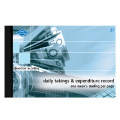 27- Daily Takings and Expenditure
