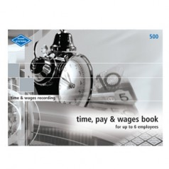 500 - Time, Pay and Wages Book - Small