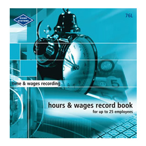 76L - Hours and Wages Record Book (Large)