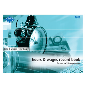76M - Hours and Wages Record Book (Medium)