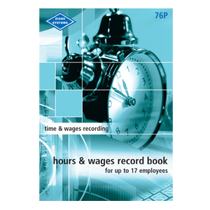 76P - Pocket Hours and Wages Record Book
