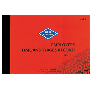 76SB - Employees Time & Wages Record Book