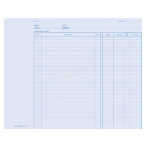 L9R - Ledger Sheet Size 9