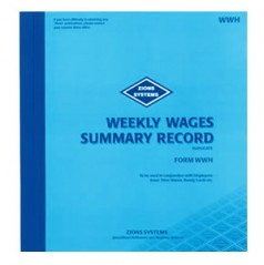 WWH - Weekly Wages Summary Record Book