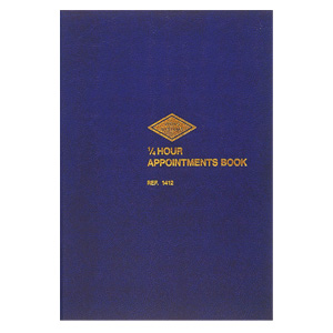 1412 - 1/4 Hour Appointment Book