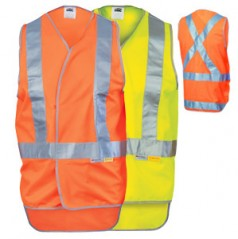 3802 - Day/Night Cross Back Safety Vest with Tail