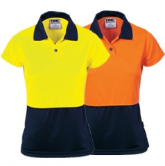 3897 - Ladies HiVis Two Tone Polo Shirt - Short Sleeve