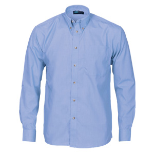 4122 - Polyester Cotton Chambray Business Shirt - Long Sleeve