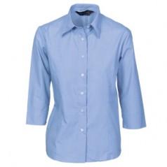 4213 - Ladies Chambray Shirt - 3/4 Sleeve