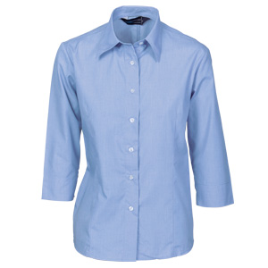 4213 - Ladies Chambray Shirt - 3/4 Sleeve