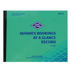 ADV15 - 15 Line Advance Bookings at a Glance Record