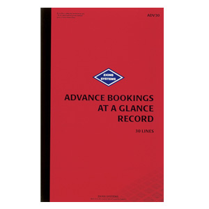 ADV30 - 30 Line Advance Bookings at a Glance Record