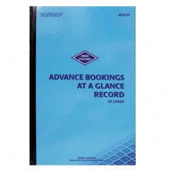 ADV35 - 35 Line Advance Bookings at a Glance Record