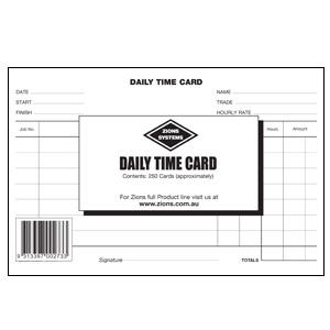 daily time cards