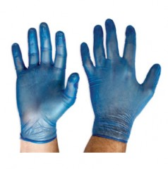 DVBPF - Blue Vinyl Gloves - Powder Free