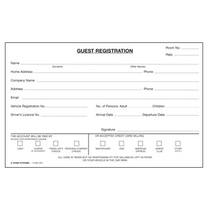 grc guest registration card. Black Bedroom Furniture Sets. Home Design Ideas