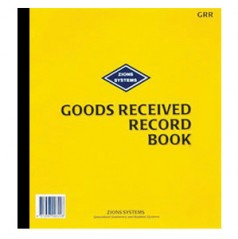 GRR - Goods Received Record Book