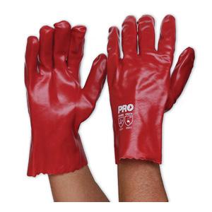 PVC27 - Red PVC Glove - Short