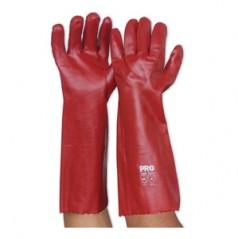 PVC45 - Red PVC Glove - Long