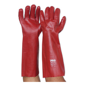PVC45 - Red PVC Glove - Long
