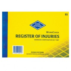 RI - Registerof Injuries Book (Workcover) NSW