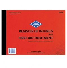 RIFA - Register of Injuries & First-Aid Treatment Book