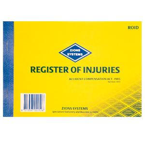 ROID - Register of Injuries Book - Victoria
