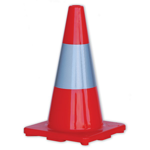 TC450R - HiVis Traffic Cones with Reflective Band 450mm Height