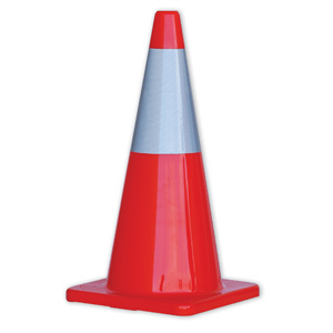 TC700R - HiVis Traffic Cones with Reflective Band - 700mm height