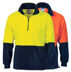 3825 - HiVis Two Tone 1/2 Zip Polar Fleece