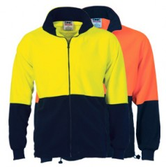 3827 - HiVis Two Tone Full Zip Polar Fleece
