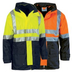 """4 in 1"" HiVis Two Tone Breathable Jacket with Vest"