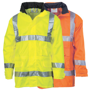 HiVis D/N Breath abl e Rain Jacket with 3M R/Tape