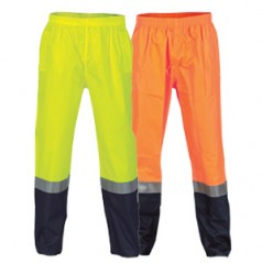 HiVis Two Tone Light weight Rain pants with 3M R/Tape