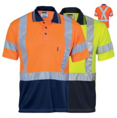Hivis D/N Cool Breathe Polo Shirt With Cross Back R/Tape