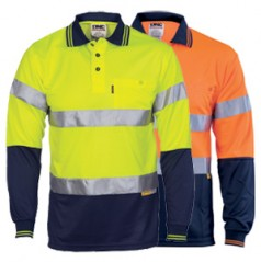 Hivis D/N Cool-Breathe Polo Shirt With 3M 8906 R/Tape